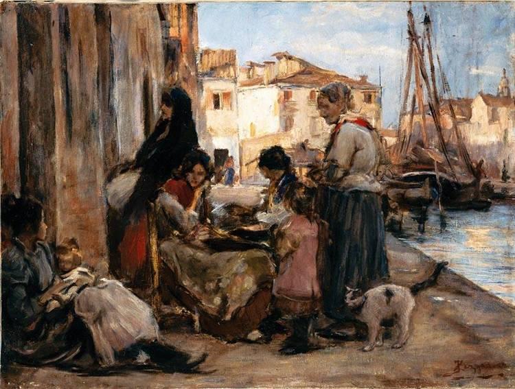 ALESSANDRO ZEZZOS (VENEZIA 1848 - VITTORIO VENETO 1914)