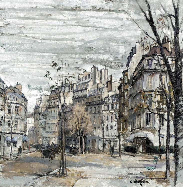 CONSTANTINE KLUGE, B.1912 SCÈNE DE RUE