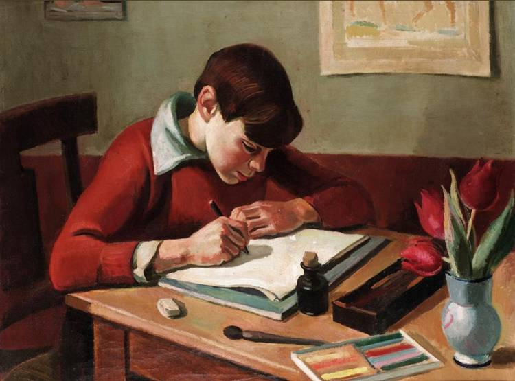 GEORGES DAREL, 1892-1943 LE JEUNE ARTISTE