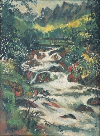 LIU HAISU 1895-1994 LES GORGES DE LA MORGE, ST. GINGOLPH