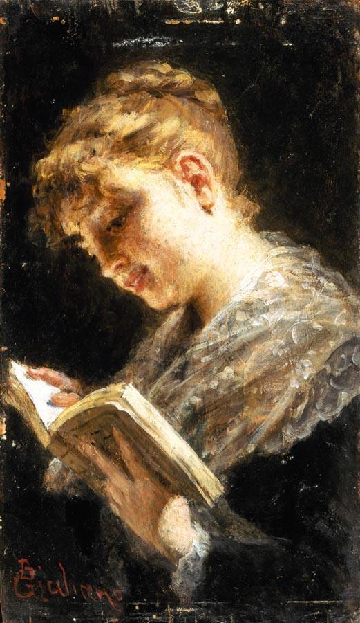 BARTOLOMEO GIULIANO (SUSA 1825 - MILANO 1909) RITRATTO DI FANCIULLA