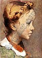 LUDOVICO TOMMASI (LIVORNO 1866 - FIRENZE 1941) RITRATTO DI BIMBA, Ludovico Tommasi, Click for value