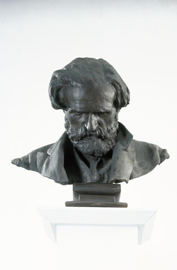 VINCENZO GEMITO (NAPOLI 1852 - 1929) BUSTO DI GIUSEPPE VERDI