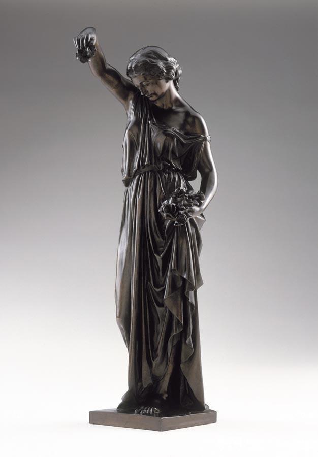 AIMÉ MILLET (PARIGI 1819 - 1891) ALLEGORIA DELLA PRIMAVERA