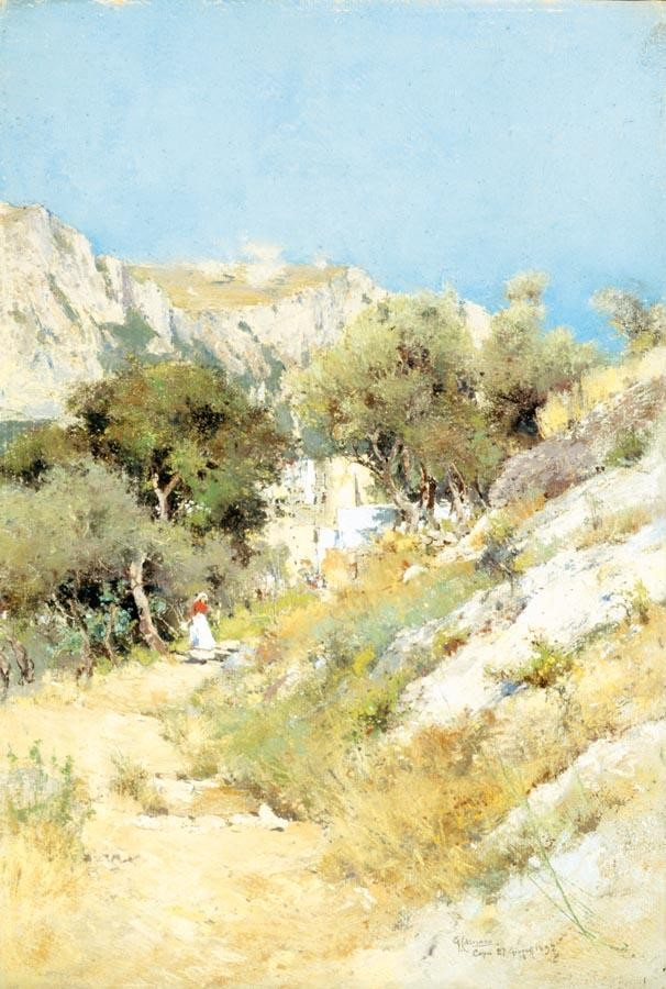 GIUSEPPE CASCIARO (ORTELLE 1863 - NAPOLI 1945) VEDUTA DI CAPRI