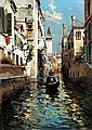 FELICE GIORDANO (NAPOLI 1880 - CAPRI 1964) CANALE VENEZIANO, Felice (1880) Giordano, Click for value