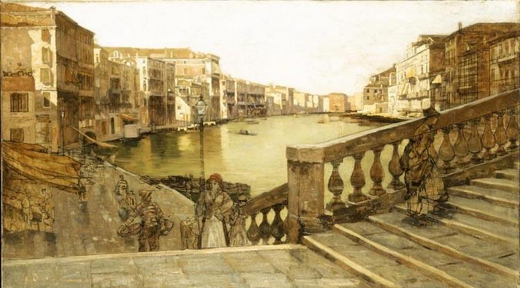 GUGLIELMO CIARDI (VENEZIA 1824 - 1917) IL CANAL GRANDE DAL PONTE DI RIALTO