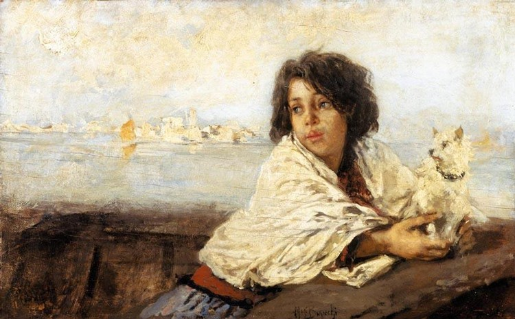 MOSÈ BIANCHI (MONZA 1840 - 1904) VERSO CHIOGGIA