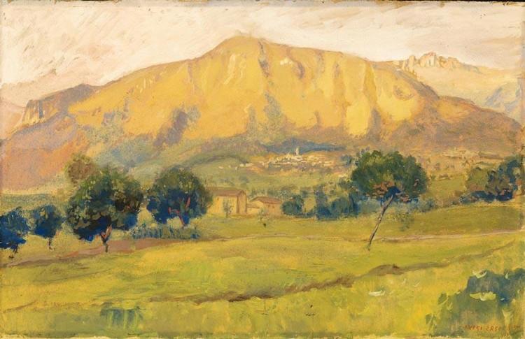 LUIGI ZAGO (VILLAFRANCA VERONESE 1894 - BUENOS AIRES 1952) PAESAGGIO