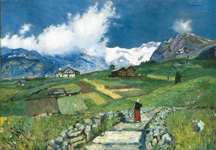 CESARE MAGGI (ROMA 1881 - TORINO 1961); BEPPE DEL CHIAPPA (FIRENZE 1883 - ?) GRESSONEY, LA TRINITÉ