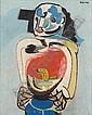 ROBERT COLQUHOUN 1914-1962 MAN WITH SADDLE, Robert Colquhoun, Click for value