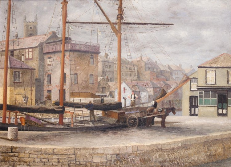 RICHARD EURICH R.A. 1903-1992 FALMOUTH HARBOUR