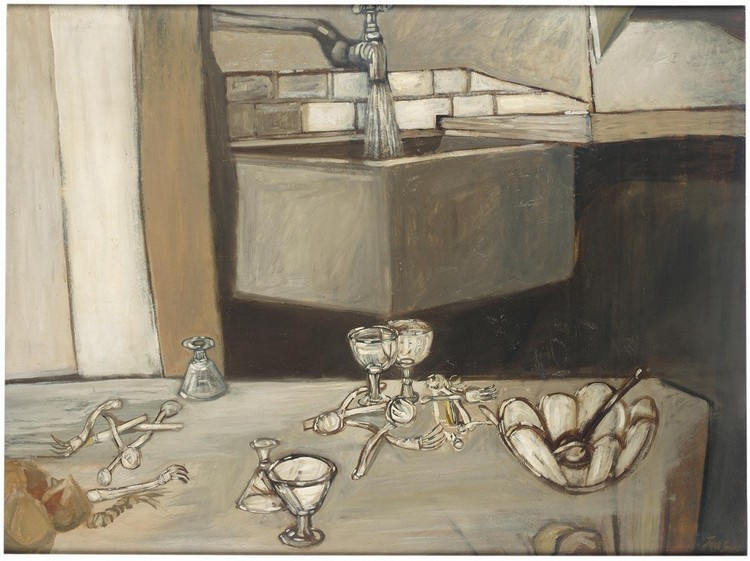 VARIOUS PROPERTIES JACK SMITH B.1928 STILL LIFE WITH RUNNING TAP