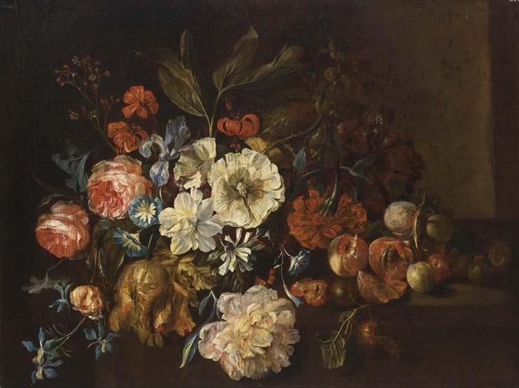 JUSTUS VAN HUYSUM THE ELDER AMSTERDAM 1659 - 1716