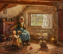 EVERT PIETERS | Mother and Child Winding Yarn