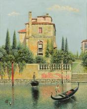 ATTRIBUTED TO HENRY PEMBER SMITH | Villa on a Venetian Canal