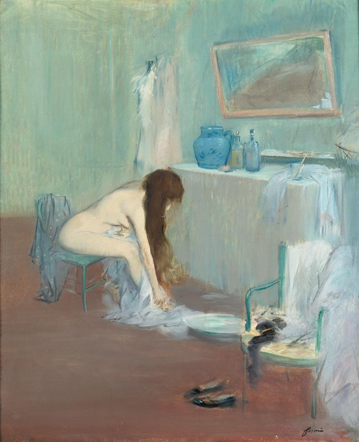 PROPERTY FROM A PRIVATE ENGLISH COLLECTION JEAN-LOUIS FORAIN 1852-1931 FEMME À SA TOILETTE