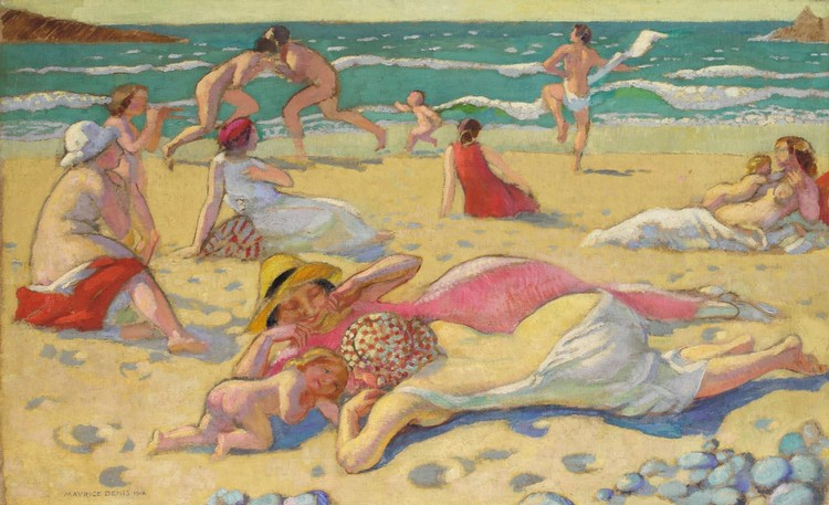 PROPERTY FROM A PRIVATE EUROPEAN COLLECTION MAURICE DENIS 1870-1943 JEUX SUR LE SABLE OR PLAGE AUX