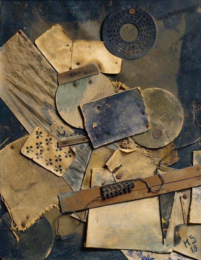 f - KURT SCHWITTERS 1887-1948 MERZBILD 5A SPIELKARTENHARMONIKA (PLAYING CARDS HARMONICA)