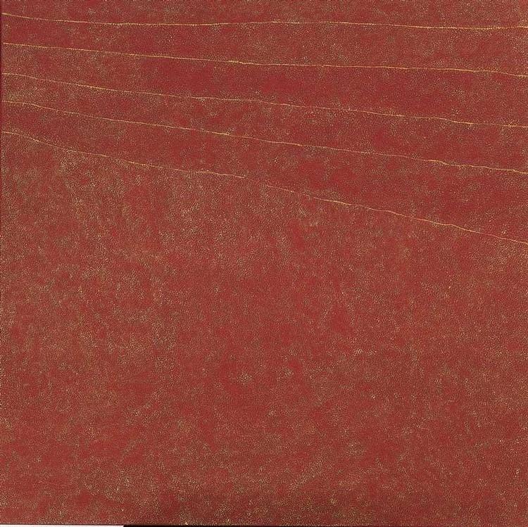 KATHLEEN PETYARRE BORN CIRCA 1930 MY COUNTRY - BUSH SEEDS (SAND STORM) 2002