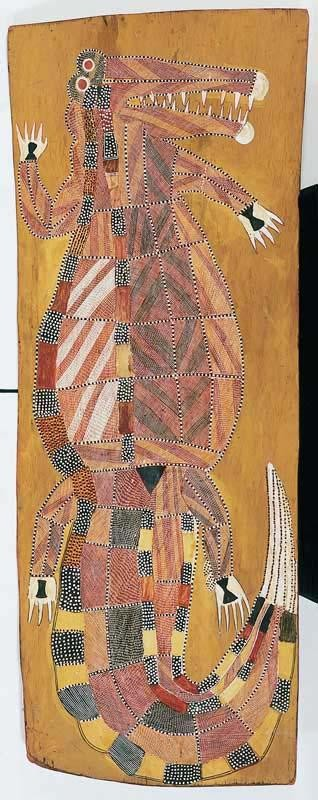 PETER MARRALWANGA CIRCA 1916-1987 UNTITLED (SALT WATER CROCODILE)