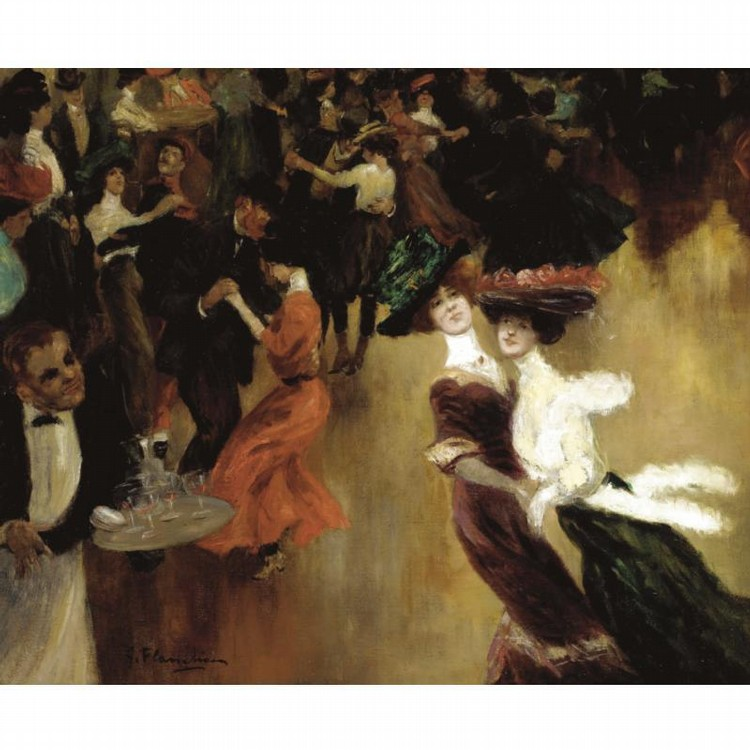 GUSTAVE FLASSCHOEN, BELGIAN 1868-1948
