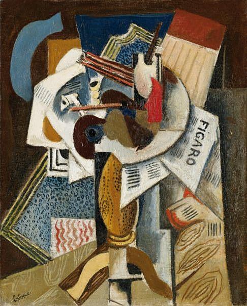 - Louis Latapie , 1891-1972 LE FIGARO   huile sur toile