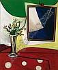 Françoise Gilot , b. 1921   LE MIROIR AU JASMIN   huile sur panneau     , Francoise Gilot, Click for value