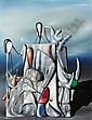 Yves Tanguy , 1900-1955 L'OUBLI DES NOMBRES huile sur toile   , Yves Tanguy, Click for value
