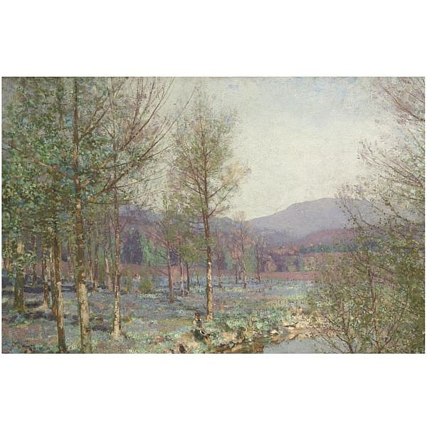 George Houston , 1869-1947 springtime   oil on canvas