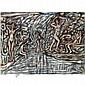 - Adrian Wiszniewski , b. 1958 The Bathers pastel and charcoal on paper   , Adrian Wiszniewski, Click for value