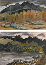 OSWALDO GUAYASAMÍN<BR>(1919-1999) | Two Landscapes