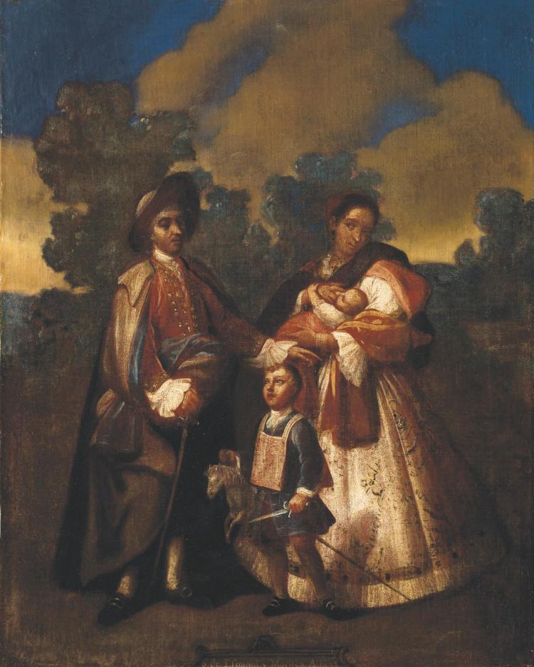 JUAN PATRICIO MORLETE RUIZ<BR>(1713-1772) | De Español y Morisca, Albino