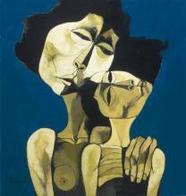 OSWALDO GUAYASAMÍN<BR>(1919-1999) | Madre con niño