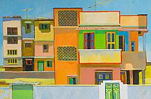 MICHAEL KOVNER | Street with Pink Houses