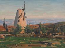 LUDWIG BLUM | The Windmill in Yemin Moshe