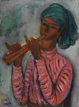 REUVEN RUBIN | The Flute Player