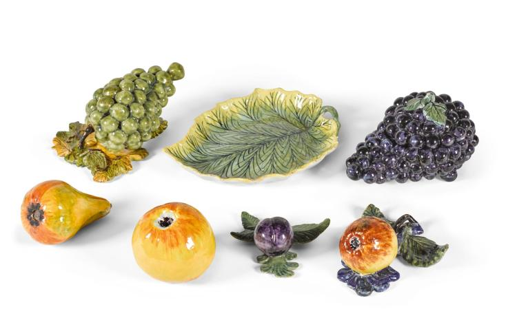 A COLLECTION OF DUTCH DELFT MODELS OF FRUIT, MID-18TH CENTURY |