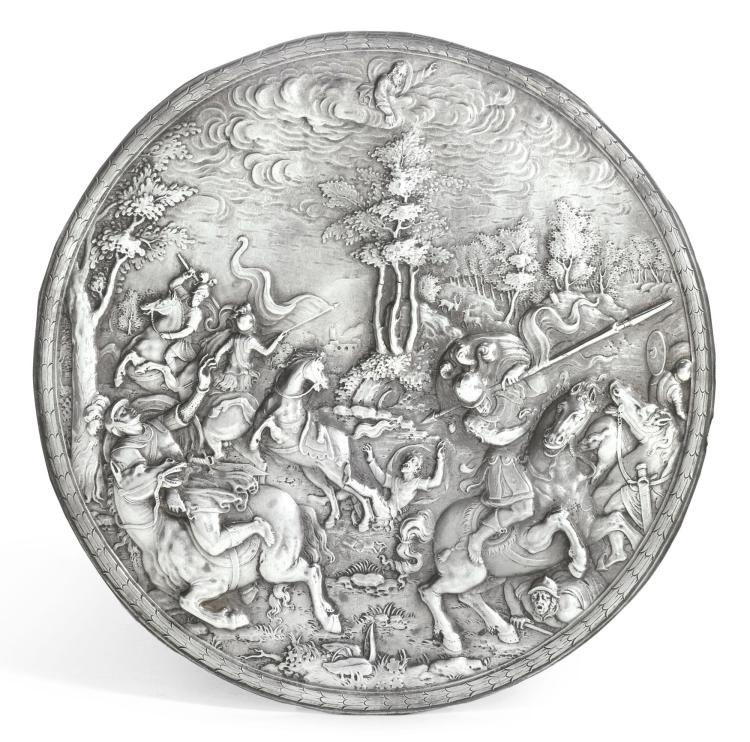 A DUTCH SILVER PLAQUETTE, UNSIGNED, POSSIBLY ADAM VAN VIANEN, EARLY 17TH CENTURY |
