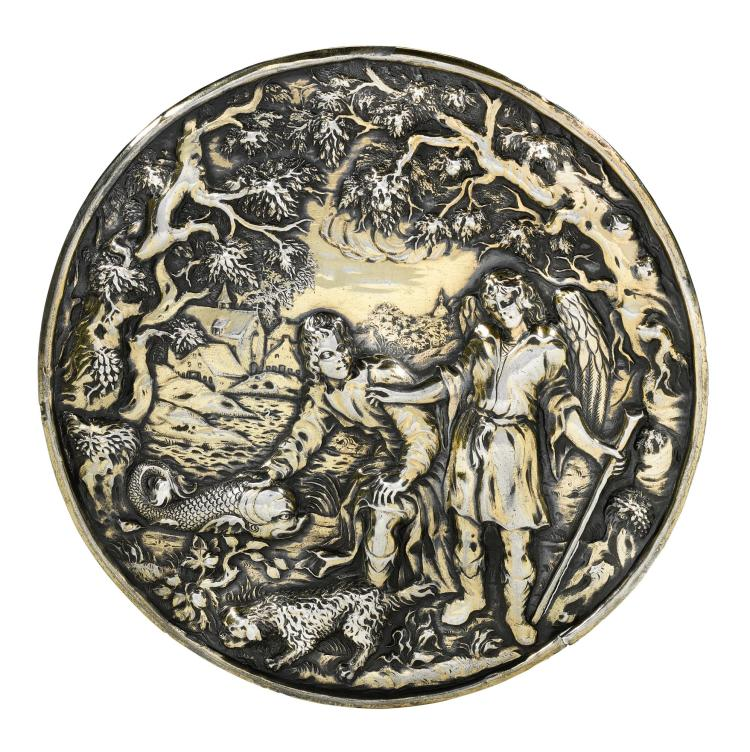 A DUTCH SILVER-GILT PLAQUETTE, UNSIGNED, MID-17TH CENTURY |