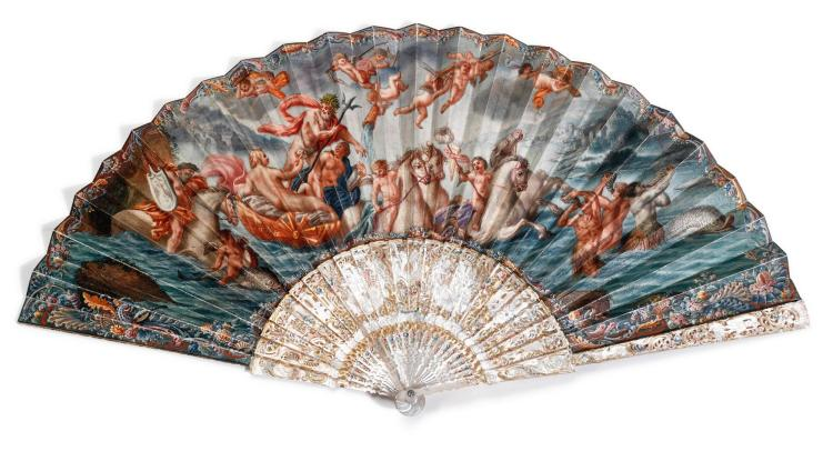 'THE TRIUMPH OF NEPTUNE', A MOTHER-OF-PEARL FAN, ITALIAN OR FRENCH, CIRCA 1760 | 'The Triumph of Neptune', A mother-of-pearl fan, Italian or French, circa 1760