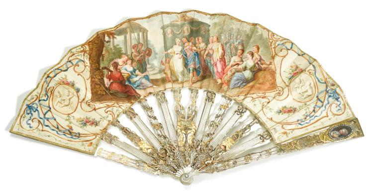 'VENUS AND MARS', A MOTHER-OF-PEARL FAN, FRENCH, CIRCA 1750 | 'Venus and Mars', A mother-of-pearl fan, French, circa 1750