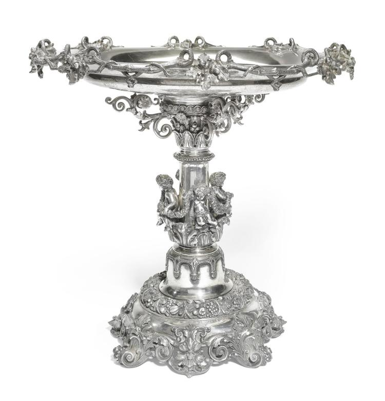A CONTINENTAL SILVER FIGURAL CENTREPIECE, POSSIBLY AUSTRIAN OR FRENCH, CIRCA 1880 |