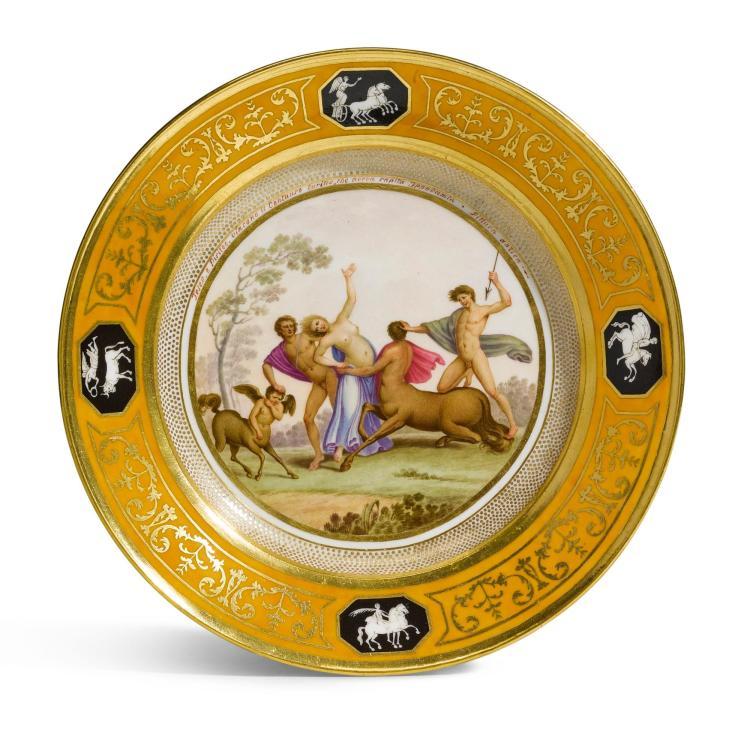A NAPLES (REAL FABBRICA FERDINANDEA) PORCELAIN PLATE, CIRCA 1800  