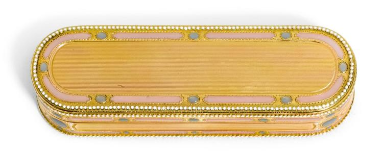 A GOLD AND ENAMEL BOX, HANAU, CIRCA 1790 | A gold and enamel box, Hanau, circa 1790