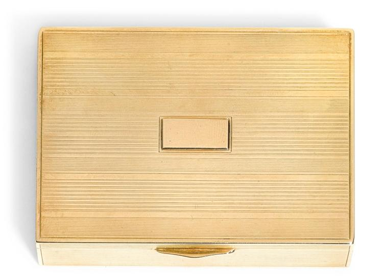 A GOLD BOX, POSSIBLY AMERICAN, CIRCA 1960 | A gold box, possibly American, circa 1960
