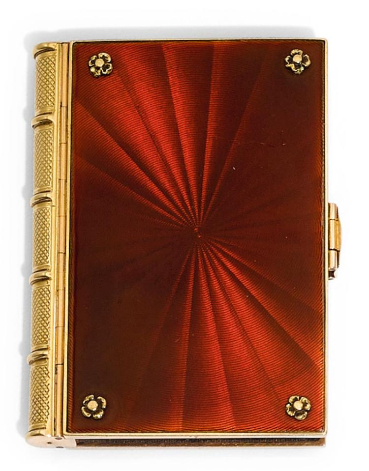 A GOLD AND ENAMEL ALMANAC, ENGLISH, CIRCA 1839 | A gold and enamel almanac, English, circa 1839