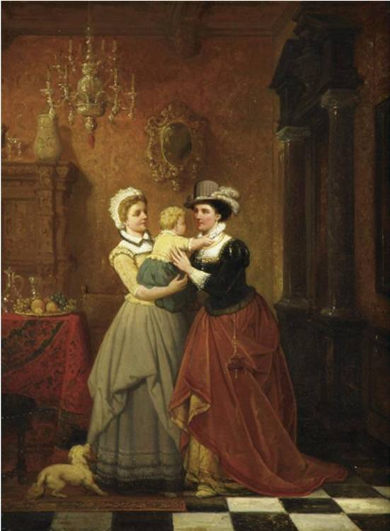 HENDRIK FRANS (HENRI) SCHAEFELS 1827 - 1904 RETURNING TO MOTHER