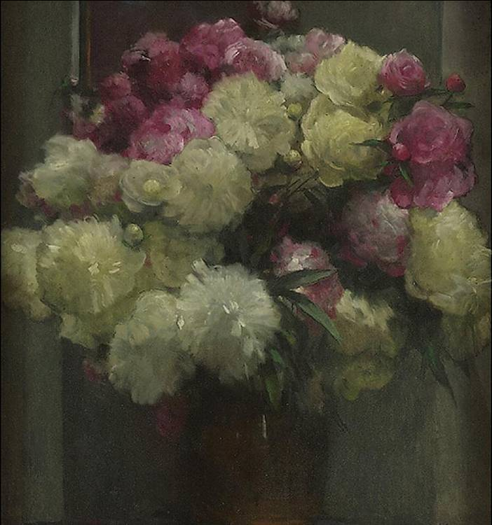 ALBERT STAGURA 1866-1947 PEONIES
