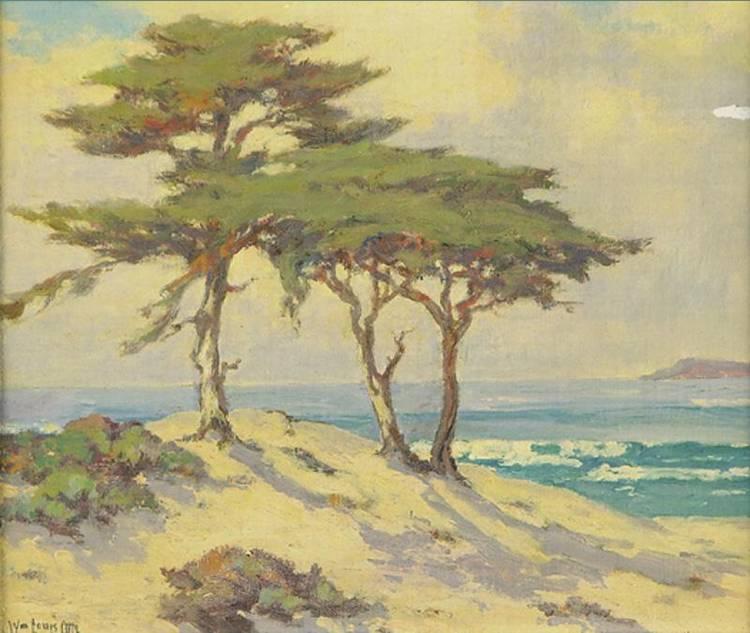 WILLIAM LOUIS OTTE 1871-1957 CYPRESS, MONTERREY COAST, CALIFORNIA
